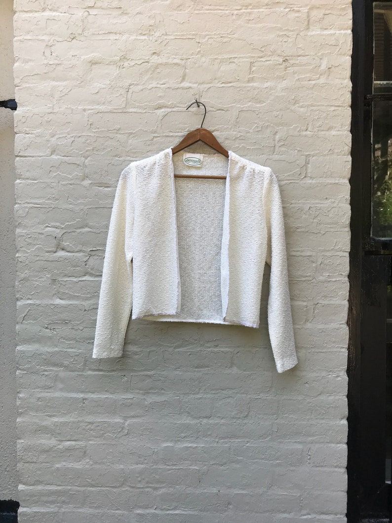91902a33833 White Boucle Cardigan