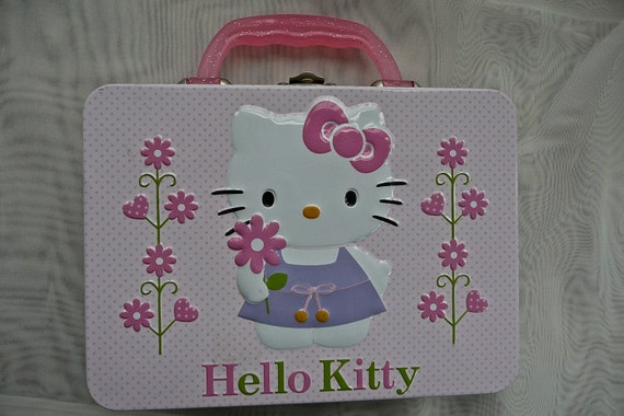 SALE  Hello Kitty Lunch Box Toy Lunch Box Cat Box Hello c1742b6777d63