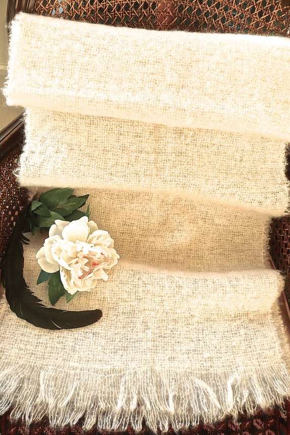 Mohair Wrap - Long and Wide Wool Scarf - Baby Wrap