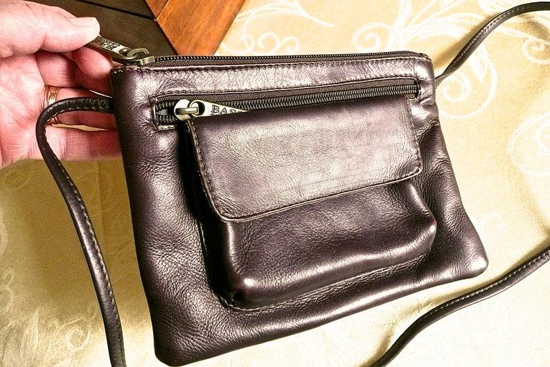 097cb6ccc1c Vintage Purse G H Bass Leather Shoulder Bag Womens Purse | Etsy