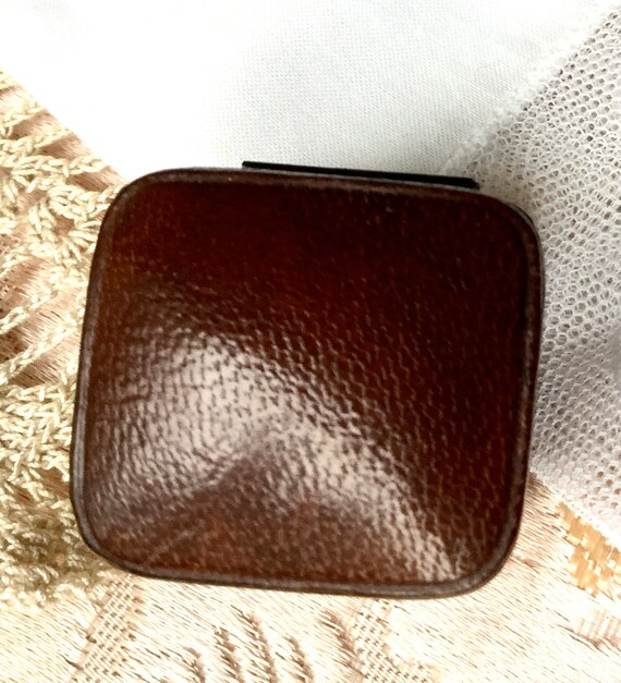 Antique Ring Box - Engagement Ring Box - Brown Lea