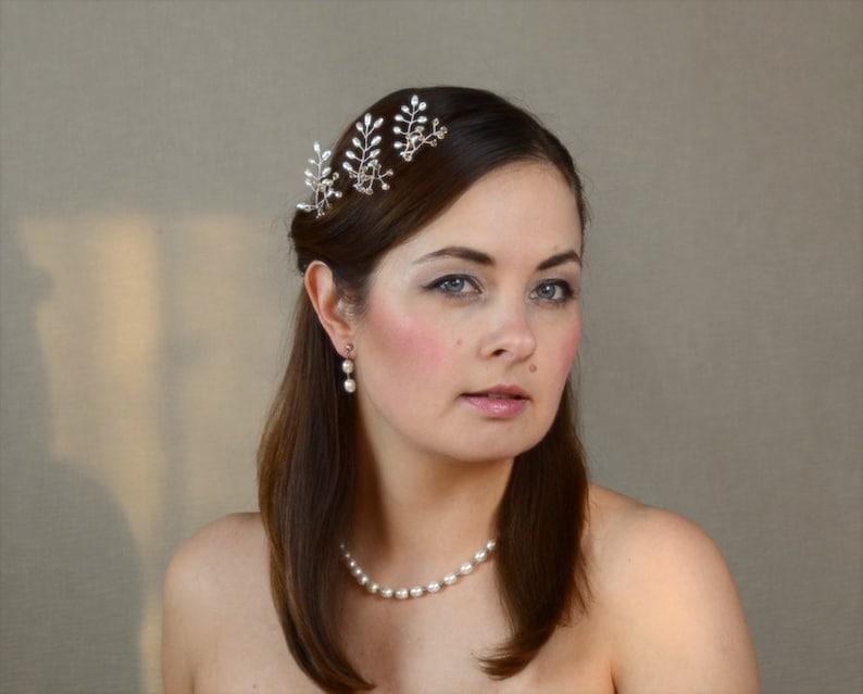 Wedding Hairpiece Pink Blue Pearl Hair Pins Bridal Crystal Hair Pin Set Champagne Wedding Hair Pins White Hair Pins