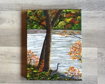 "Pass Through the River - Isaiah 43:2 (11x14""  gallery wrapped canvas)"