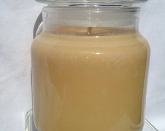 Sandalwood scented soy container candle