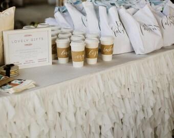 Chiffon Romantic Ruffles Tablecloth