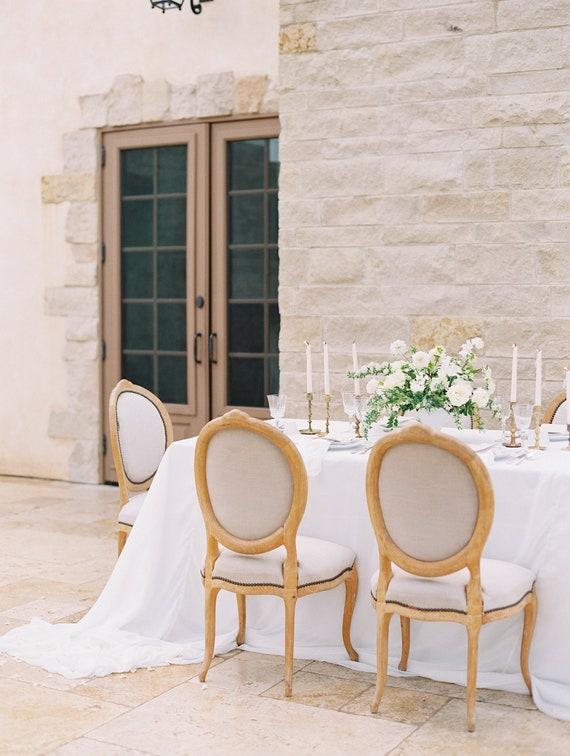 Romantic Chiffon Table Overlay Silk Linen Gauze Etsy