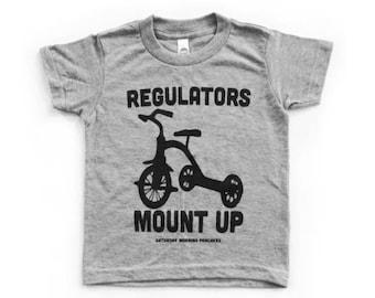 Funny Kids Graphic Tee. Regulators Mount Up