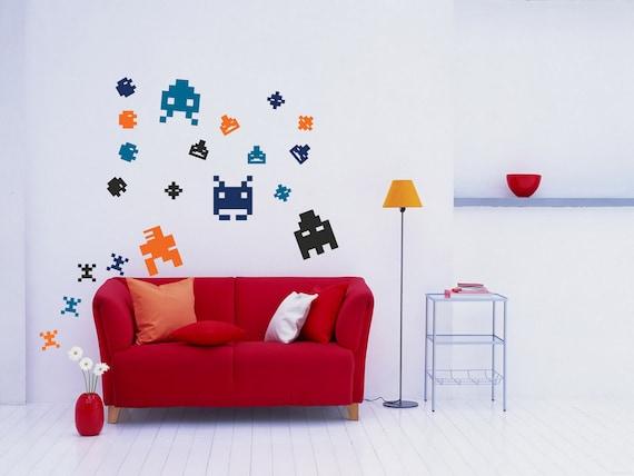 Wall Art Pixel art arcade 8-bit sprites vinyl wall decal   Etsy