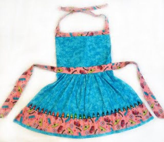 Princess Playtime Crayon Apron