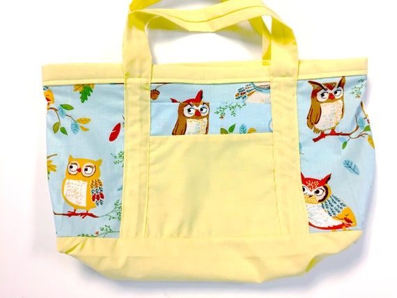 Cute OWL Tote for Book/Lunch/Misc