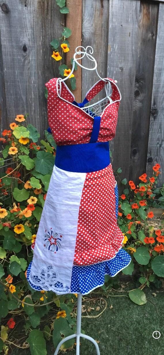 Women's Patriotic Handmade Apron