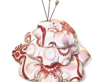 Tiered Pincushion - Beautiful Moda Fabric