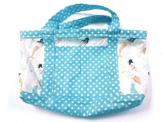 Cute Mermaid Tote for Book/Lunch/Misc