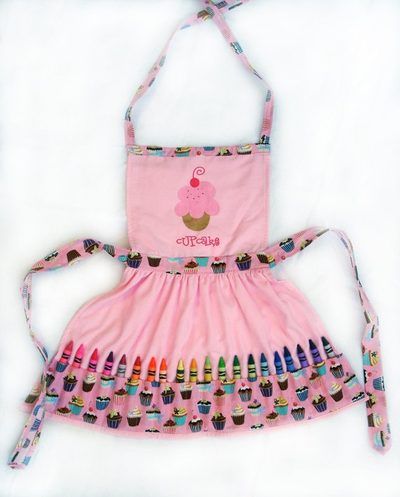 Customized Cupcake Crayon Play Apron