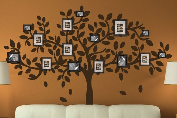 Modern Family Tree Wall Decal Sticker Picture Frame Tree Etsy