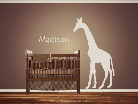 Items Similar To Personalized Custom Giraffe Animal