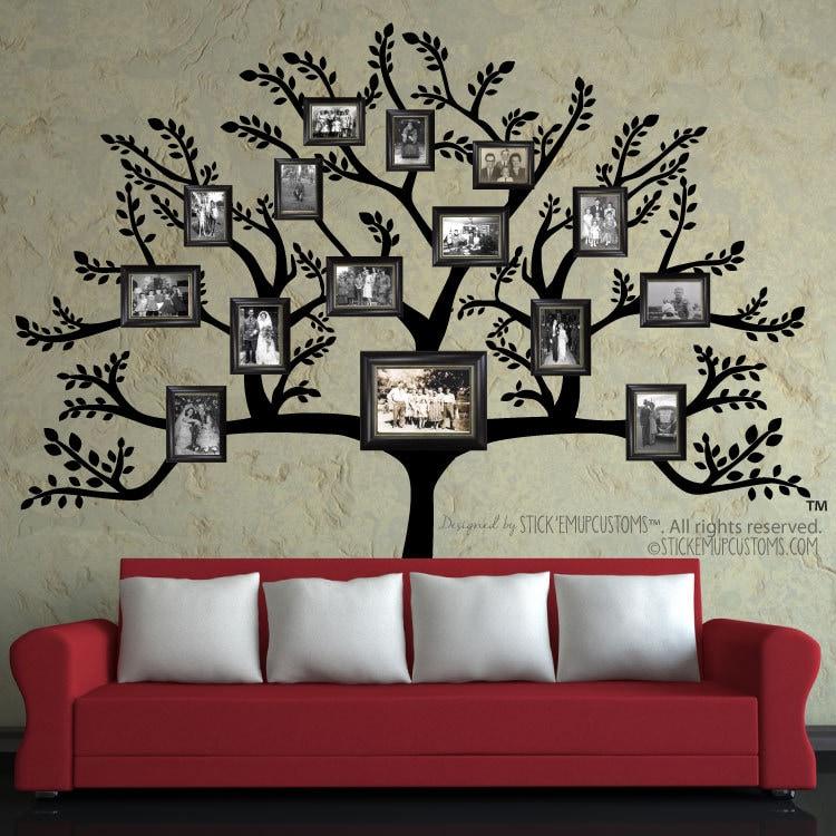 Baum Wand Aufkleber kostenlose Versand große Stammbaum | Etsy