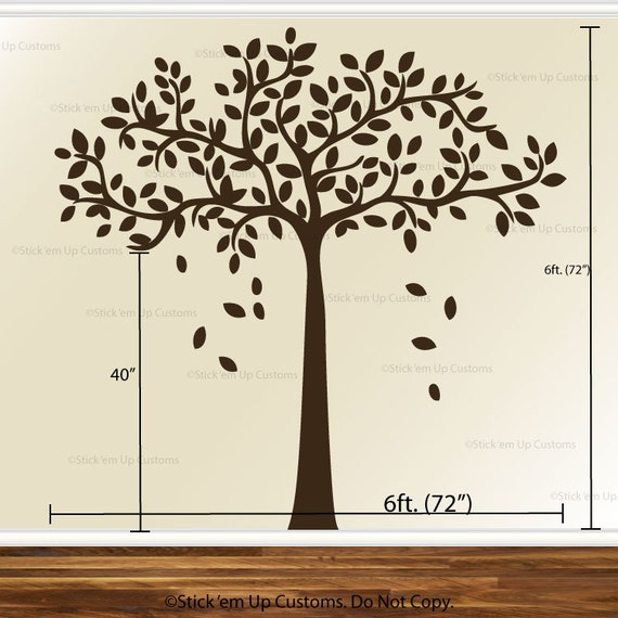 Modern Family Tree Wall Decal Sticker Picture Frame Tree | Etsy