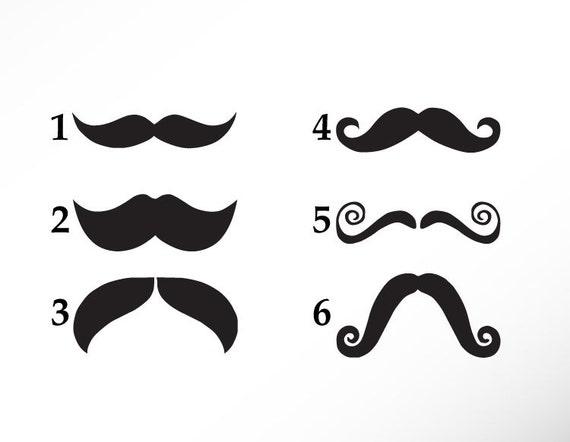 Items Similar To 5 Mustache Stencil Vinyl Sticker Decal
