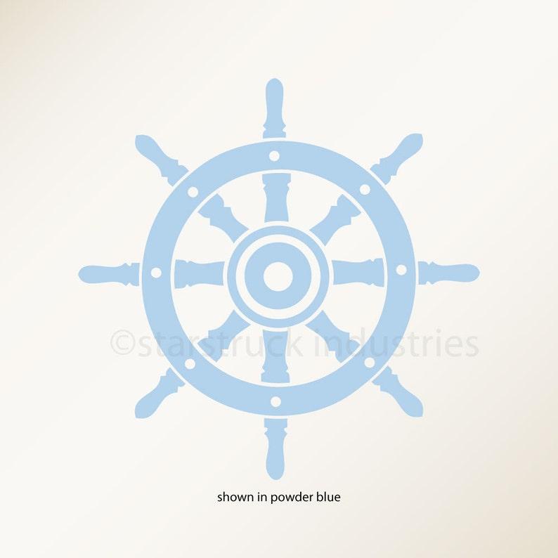Nautical Ship Wheel Decal Nautical Nursery Theme Decor Captains Wheel Nautical Shower Gift Idea Nautical Room Decor Ideas Ship Steer