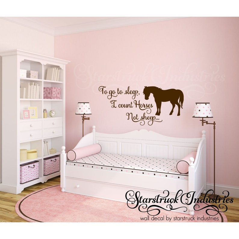 To Go To Sleep I Count Horses Not Sheep Horse Theme Wall Etsy