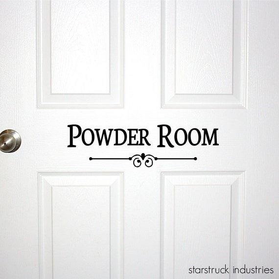 Very best Powder Room Door or Wall Decal Decorative Powder Room Sign YT35