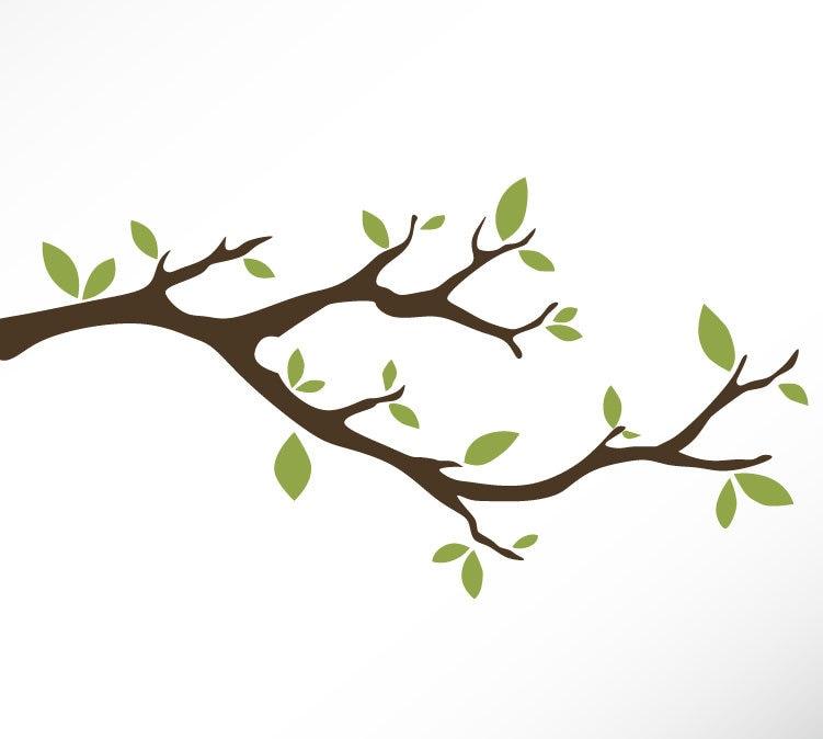 tree branch vinyl wall decal sticker leaves modern etsy