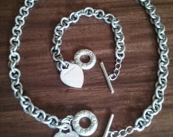 1fdc5e9f5 Tiffany and Company toggle necklace and bracelet Please return to Tiffany
