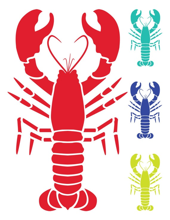 nautical clip art lobster clip art vector lobster image etsy rh etsy com lobster clipart black and white lobster clipart outline