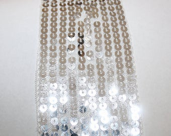 White Sequin Trim Per Yard