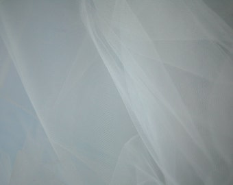 "White Tulle Fabric 56"" Wide Per Yard"