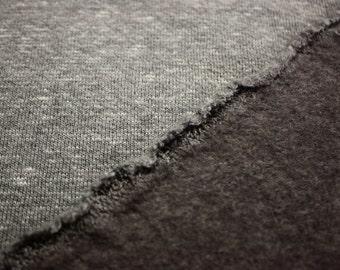 "Heathered Gray Fleece Fabric 58""/60"" Wide Per Yard"