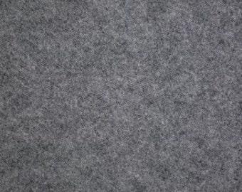 "Heathered Gray Felt Fabric 72"" Wide Per Yard"