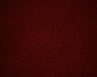 "Burgundy Felt Fabric 72"" Wide Per Yard"