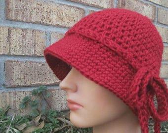 Crochet Cloche,nubby brim cloche,Mother's Day Gift,Nubby Brim ClocheMother's day  GIFT,Flapper Hat,Nubby Brim Cloche,nubby brim cloche