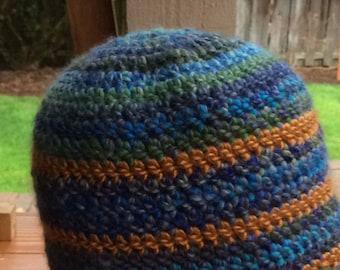 Boutique crochet beanie hat.