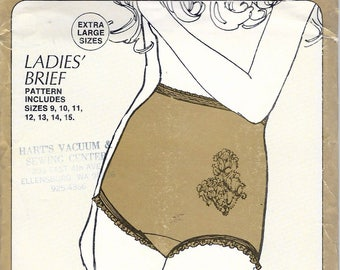 Vintage 1970 Sew Lovely P500 XXL Ladies Briefs Sewing Pattern Size 9,10,11,12,13,14,15 Sealed UNCUT