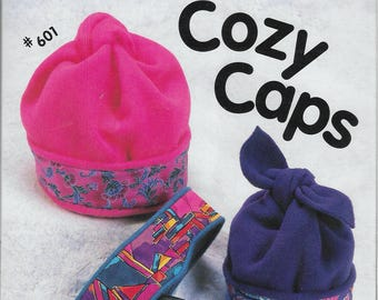 Timber Lane Press Cozy Caps 601 Hats & Headbands Sewing Pattern For Infants - Large Adult
