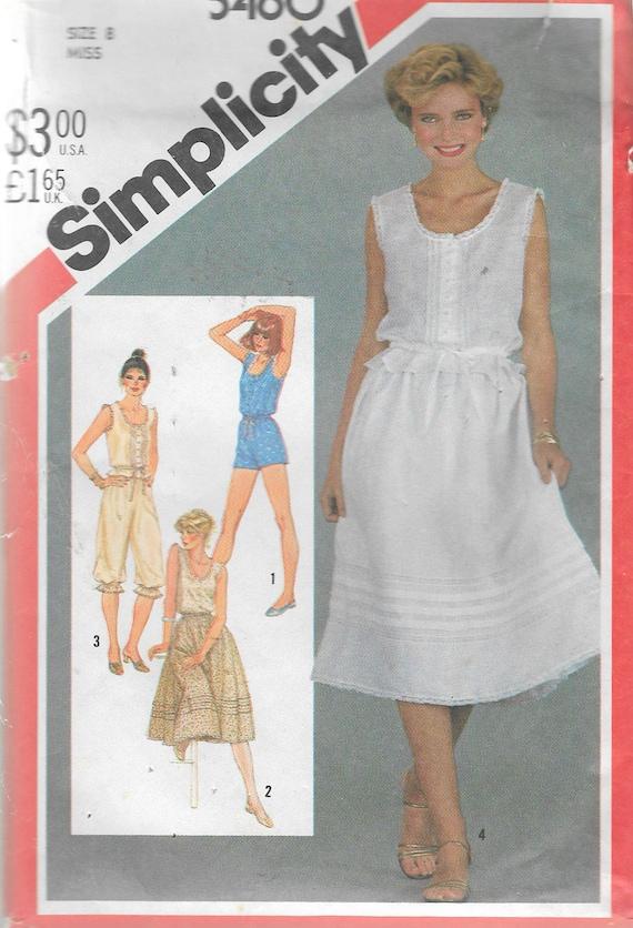 Vintage 1982 simplicidad 5460 camisolas tirar-en la falda   Etsy