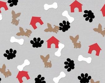 Dog Puppy Party Birthday Decorations 200 Dog Bone confetti Mixed Dog Bones