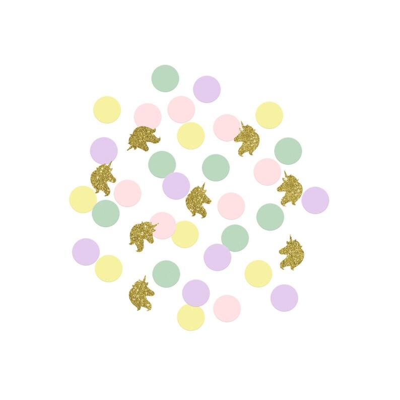 Unicorn Party Confetti, Girl Birthday Party Decorations, Unicorn Party  Decorations and Table Decor, Fun Confetti for Baby Shower