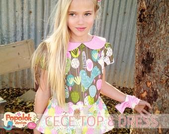 CECE Top & Dress PDF Pattern by Popolok Design - Tween Teen Girl Age 9 to 16