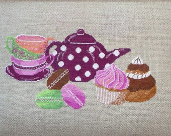 Chart embroidery gourmet tea and cakes CM 1304