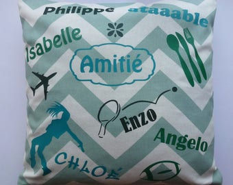personalized with names, words pillow cover