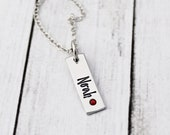 Personalized Kids Name Necklace - Family Tree - Birthstone Jewelry - Gift for Mom - Gift for Grandma - Engraved - Mom Necklace - New Mom