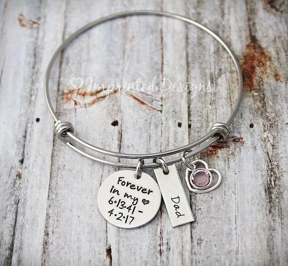 Memorial Bangle Bereavement Gift Always on My Mind Bracelet Black Bracelet Forever in my Heart Cord Charm Bracelet Cord Bracelet