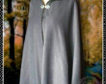 Short Cape, Cloak, Wrap,  Pixie hood, Polar Fleece, Pagan, Renaissance, Woodland, LARP