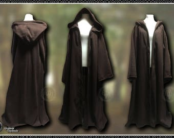 Monks robes, Ritual Robes, Witch, Druid, Pagan, space knight, sci-fi monk, hooded coat, LARP, Ren, hooded cloak, polar fleece, Magickal Garb