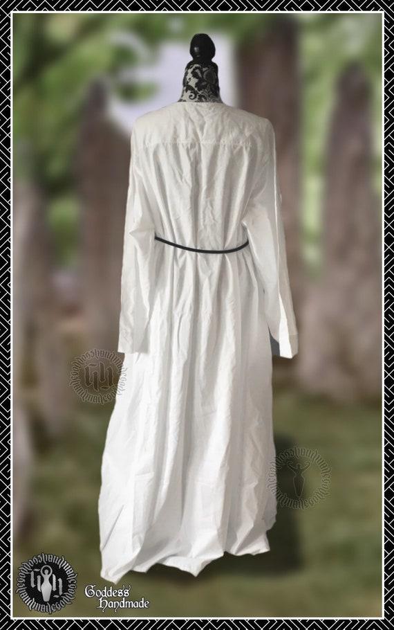 Robe en coton ordinaire, robes rituelles, décalage, druide, wicca, sorcière, médiéval, moine, Wickerman, Souverain Sacrificateur, Grande Prêtresse,