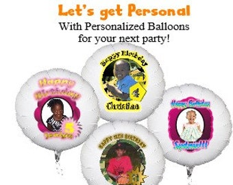 Personalized Gift Custom Balloons Birthday Baby Shower Party Theme Two Foil